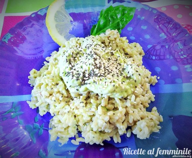 risotto avocado e yogurt