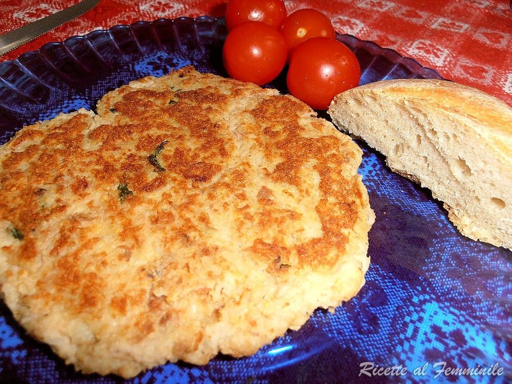 Hamburger di tonno e patate