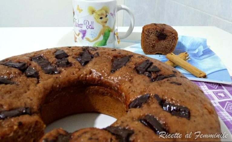 Torta banane e cioccolato senza uova
