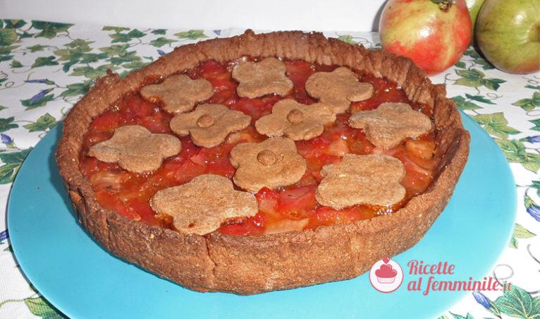 Crostata di mele e succo di melograno vegana - crostata-di-mele-e-succo-di-melograna-vegan-766x452