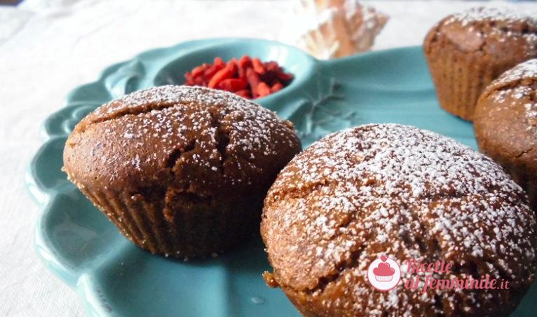 Muffin al grano saraceno e bacche di goji