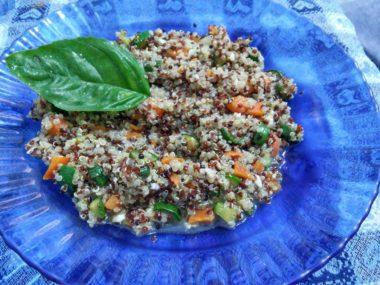 Quinoa mista alle zucchine