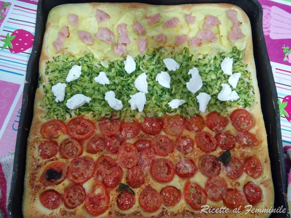Pizza con impasto alla ricotta