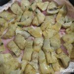 Torta salata ai carciofi con pasta al vino 4