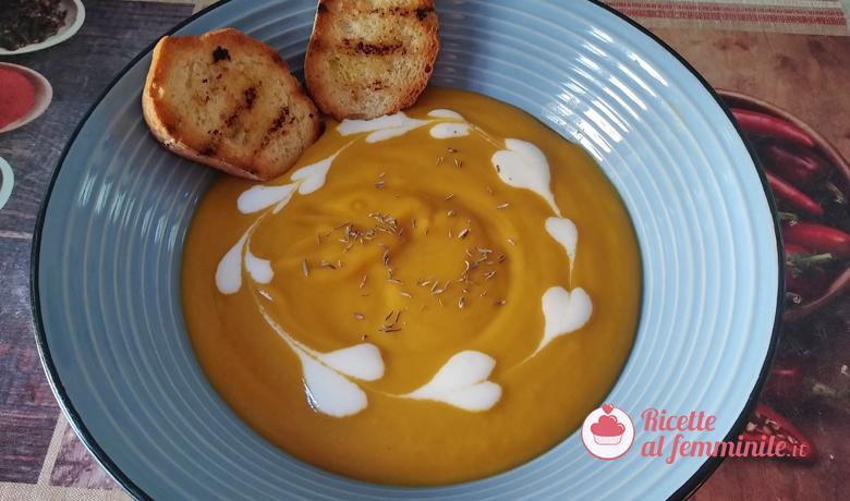 Vellutata di carote con bimby versione vegan 6