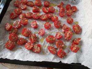 Spaghetti con pomodorini confit 4