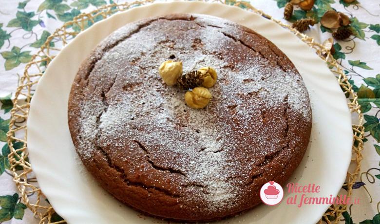 Torta con farina di castagne e caffè senza lattosio 3