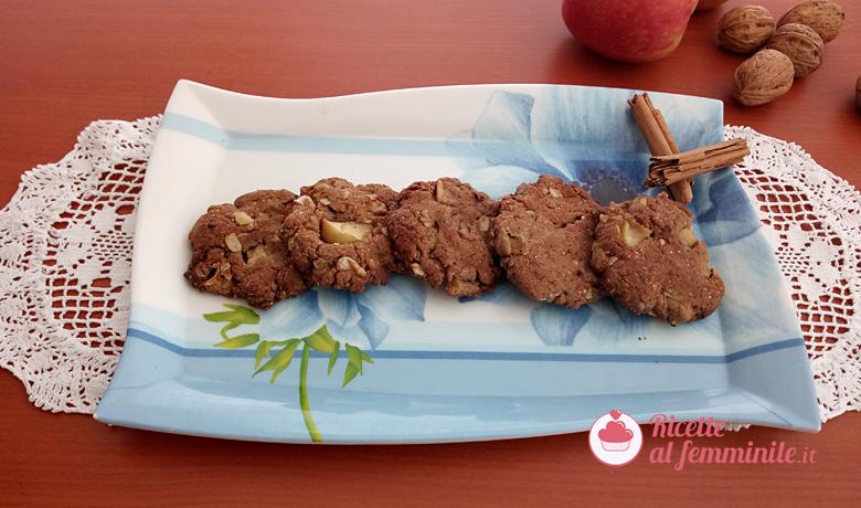 Biscotti con mele e noci senza lattosio 3