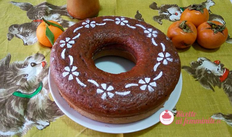 Torta cachi e cioccolato senza burro 3