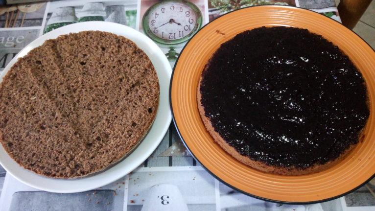 Torta al grano saraceno con marmellata di more 4