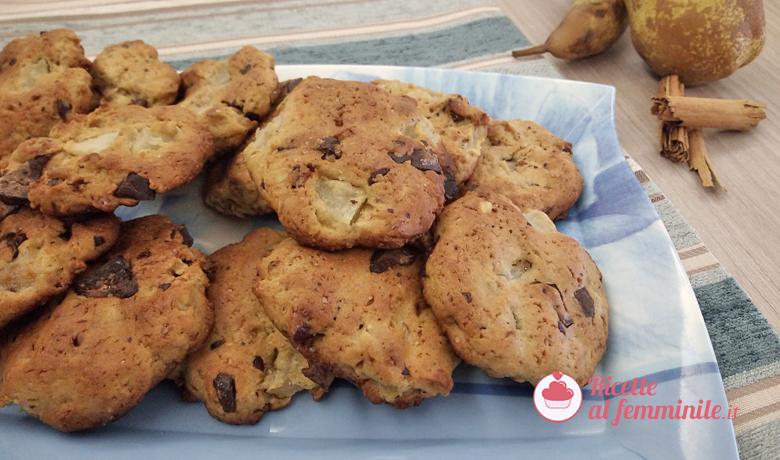 Biscotti pere e cioccolato senza burro 5