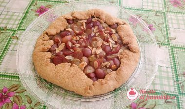 Galette con l'uva – una crostata rustica