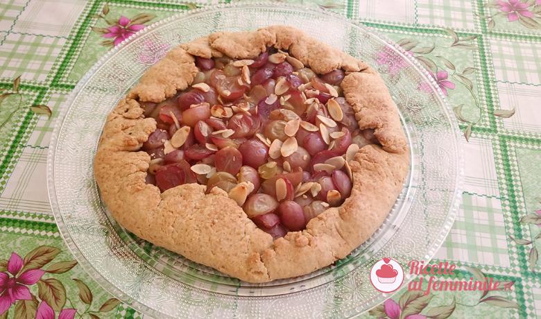 Galette con l'uva - una crostata rustica 5