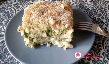 Timballo di riso e zucchine al forno 7