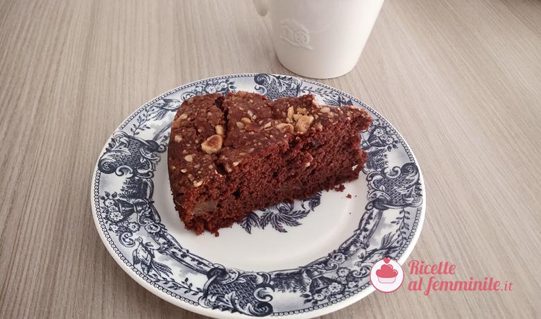 Torta pere e cioccolato con nocciole 4