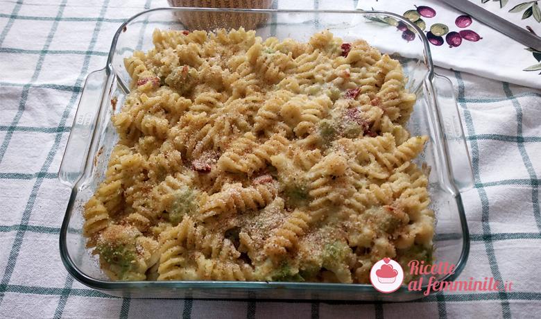 Pasta al forno con i broccoli romaneschi 1