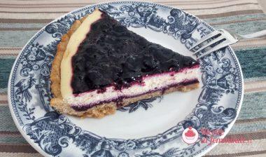 Crostata cheesecake senza panna e senza burro