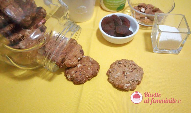 Biscotti con fiocchi d'avena, mandorle e semi di lino senza uova 1