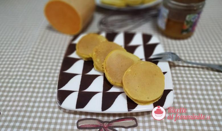 Pancake alla zucca senza burro 4