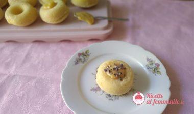 Muffin limone e ricotta con crema lemon curd