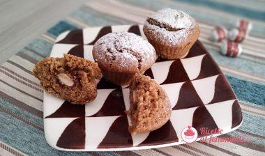 Muffin al caffè e ricotta con sorpresa