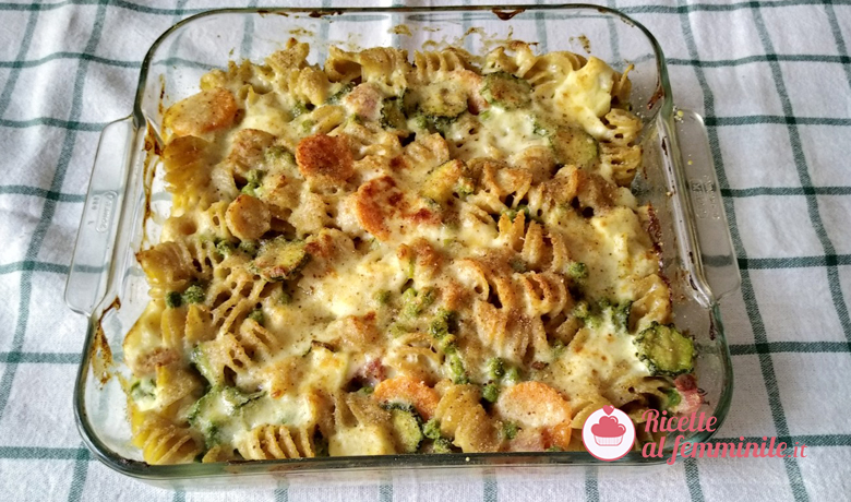 Pasta al forno bianca con verdure 6