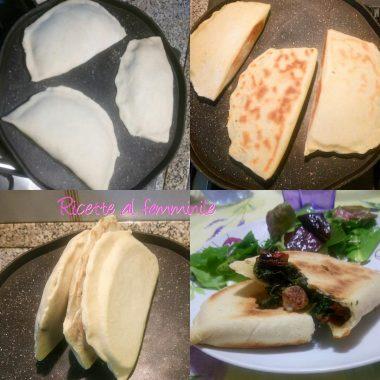 Cassoni romagnoli ripieni con erbette di campo e mozzarella 4