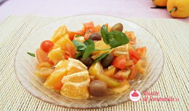 Insalata di arance con pomodori e olive