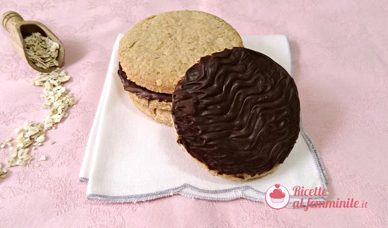 Biscotti digestive con copertura al cioccolato 7