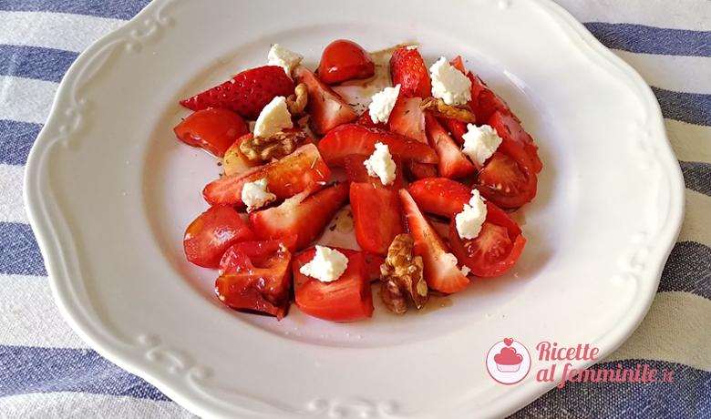 Insalata di fragole e pomodorini 1
